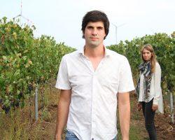 Thomas und Victoria Stadler im Weingarten